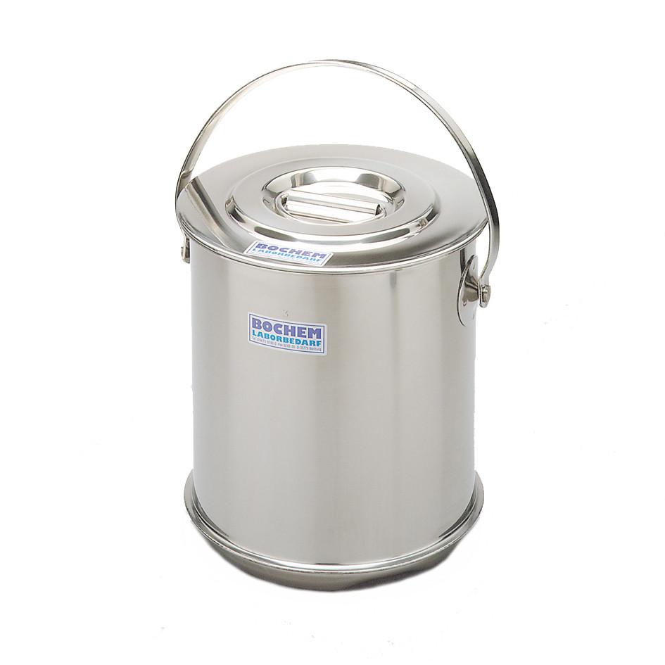 Isolierbehälter doppelwandig mit Deckel, 10 Liter, 18/10-Stahl, stapelbar