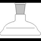 Planflansch-Deckel, 1-Hals