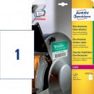 Avery Zweckform Folienetiketten, wetterfest, ultra-resistent (L7917-40), weiß, 210 x 297 mm, 40 Bl. - 40 Stk.