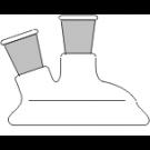 Planflansch-Deckel, 2-Hals