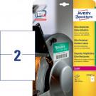 Avery Zweckform Folienetiketten, wetterfest, ultra-resistent (L7916-40), weiß, 210 x 148 mm, 40 Bl. - 80 Stk.