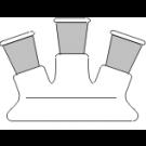Planflansch-Deckel, 3-Hals