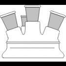 Planflansch-Deckel, 4-Hals, DN 120