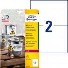 Avery Zweckform Folienetiketten, wetterfest, weiß matt (L4717-20), 210 x 148 mm, 20 Bl. - 40 Stk.