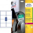 Avery Zweckform Folienetiketten, wetterfest, ultra-resistent (L7914-40), weiß 99,1 x 67,7 mm, 40 Bl. - 320 Stk.