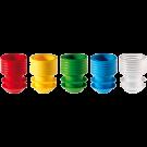 Griffstopfen, Ø 11 - 12 mm, Beutel 1 x 1 000 Stk., verschiedene Farben