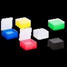 Kryo-Boxen für Kryo-Röhrchen 1,2 - 2 ml, aus PP, Raster 9 x 9, Form 133 x 133 x 52 mm