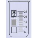 Becher Braunglas Boro 3.3, hohe Form, m. Teilung u. Ausguss
