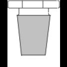 Massiv - Glasstopfen, Klarglas, 8-Kant