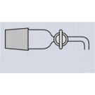 Abklärflasche - Ablaßhahn Glas, braun