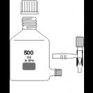 Abklärflasche, braun, GL45, mit Bodentubus