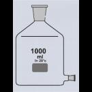 Abklärflasche, braun, Hals NS