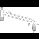 Destillierbrücken mit Liebigkühler und Vakuumanschluß