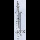 Dosiertrichter mit Mariotte`schen Rohr, doppelwandig, K. NS 29/32