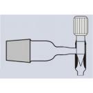 Abklärflasche - Ablaßhahn mit PTFE-Spindel, braun