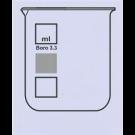 Becher Boro 3.3, niedere Form, mit  Ausguss, ohne Teilung