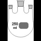 3-Hals-Kolben, MH. NS 29/32, 2 x SH. NS 14/23, gerade