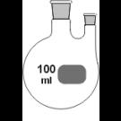 2-Hals-Kolben, MH. NS 29/32, SH. gerade NS
