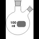 2-Hals-Kolben, MH. NS 14/23, SH. schräg NS 14/23