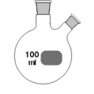 2-Hals-Kolben, MH. NS 29/32, SH. schräg NS 14/23