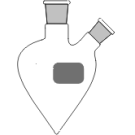 2-Hals-Spitzkolben, klar, MH. NS 29/32, SH. schräg NS