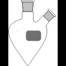 2-Hals-Spitzkolben, klar, MH. NS 14/23, SH. schräg NS